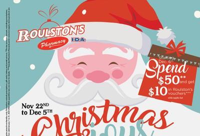 Roulston's Pharmacy Flyer November 22 to December 5