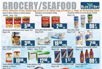 Blue Sky Supermarket (Pickering) Flyer August 21 to 27