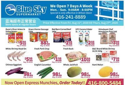Blue Sky Supermarket (North York) Flyer August 21 to 27