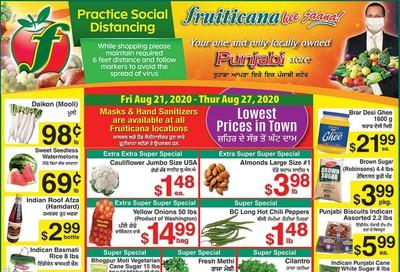 Fruiticana (Calgary) Flyer August 21 to 27