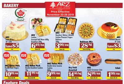 Arz Fine Foods Flyer November 22 to 28