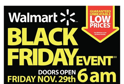 Walmart Black Friday Event Flyer November 29 to December 1, 2019
