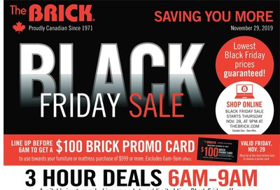 The Brick Black Friday Sale Flyer November 29 to December 5, 2019