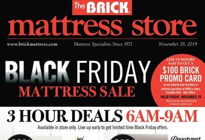 The Brick Mattress Store Black Friday Sale Flyer November 29 to December 5, 2019