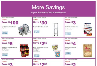 Costco Business Centre (Scarborough, ON) Instant Savings Flyer November 25 to December 8