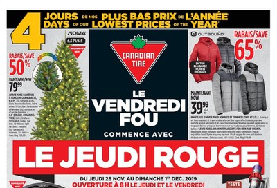 Canadian Tire (QC) Black Friday Flyer November 28 to December 1, 2019