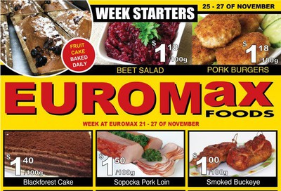 EuroMax Foods Flyer November 21 to 27