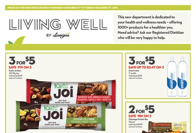 Longo's Living Well Flyer November 27 to December 31