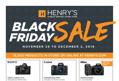 Henry's Black Friday Flyer November 29 to December 2, 2019