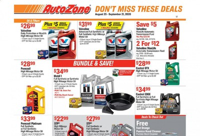 Autozone Weekly Ad August 25 to September 21