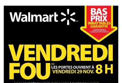 Walmart (QC) Black Friday Event Flyer November 29 to December 1, 2019