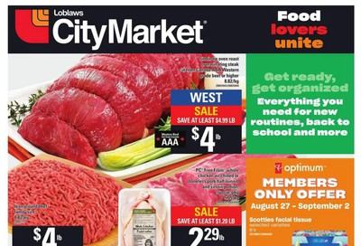 Loblaws City Market (West) Flyer August 27 to September 2