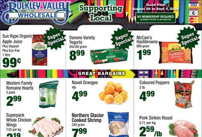 Bulkley Valley Wholesale Flyer August 26 to September 1