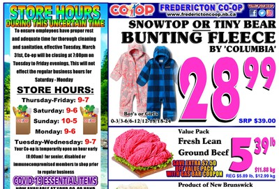 Fredericton Co-op Flyer August 27 to September 2