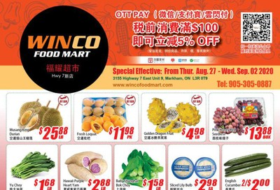 WinCo Food Mart (HWY 7) Flyer August 27 to September 2