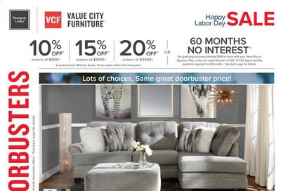Value City Furniture Weekly Ad September 1 to September 7
