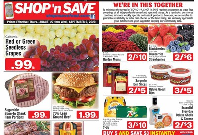 Shop 'n Save (Pittsburgh) (MD, NY, OH, PA) Weekly Ad August 27 to September 2