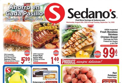 Sedano's Weekly Ad August 26 to September 1