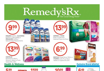 Remedy's RX Flyer August 28 to October 1