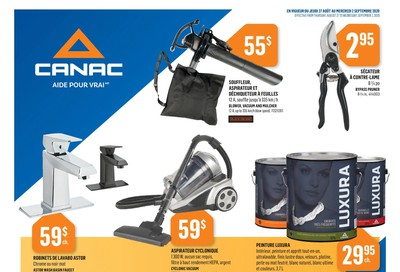 Canac Flyer August 27 to September 2