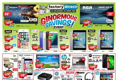 Factory Direct Flyer September 11 to 18