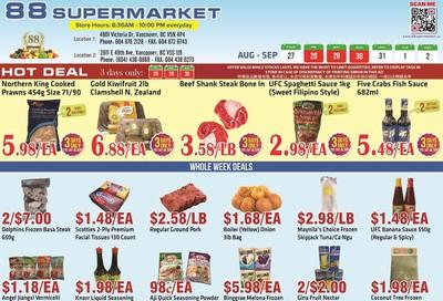 88 Supermarket Flyer August 27 to September 2