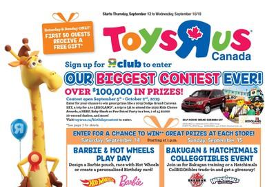 Toys R Us Flyer September 12 to 18
