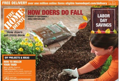 The Home Depot Weekly Ad August 27 to September 7