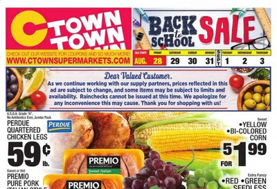 C-Town Weekly Ad August 28 to September 3