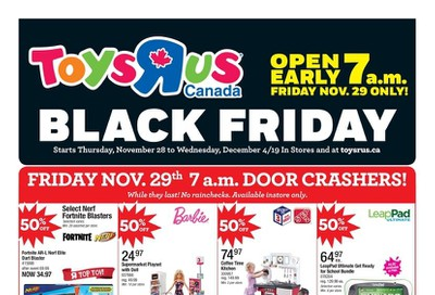 Toys R Us Black Friday Flyer November 28 to December 4, 2019