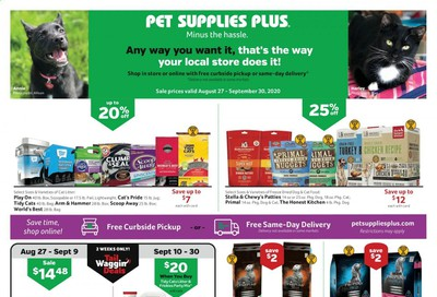 Pet Supplies Plus Weekly Ad August 27 to September 30