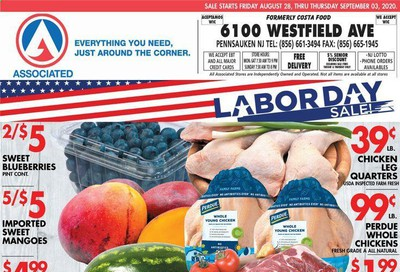 Associated Supermarkets Weekly Ad August 28 to September 3