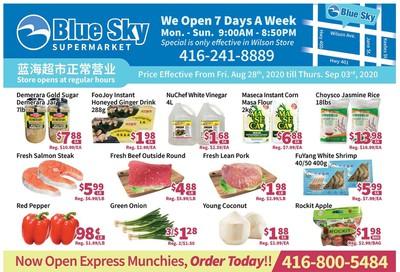Blue Sky Supermarket (North York) Flyer August 28 to September 3