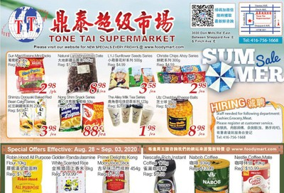 Tone Tai Supermarket Flyer August 28 to September 3