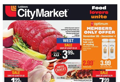Loblaws City Market (West) Flyer November 28 to December 4