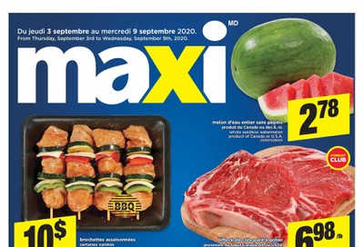 Maxi Flyer September 3 to 9