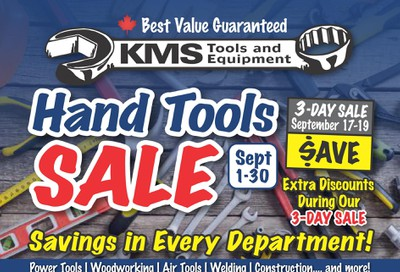 KMS Tools and Equipment Flyer September 1 to 30