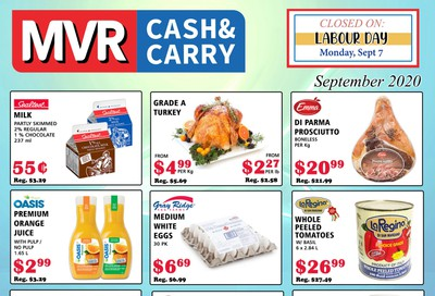 MVR Cash and Carry Flyer September 1 to 30