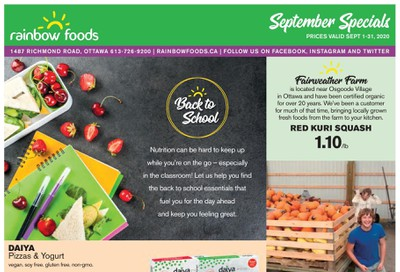 Rainbow Foods Flyer September 1 to 30