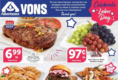 Albertsons Weekly Ad September 2 to September 8