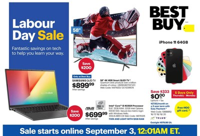 Best Buy Labour Day Sale Flyer September 3 to 10