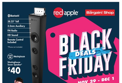 The Bargain Shop and Red Apple Stores Black Friday Flyer November 29 to December 1