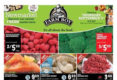 Farm Boy (Newmarket) Grand Opening Flyer September 3 to 9