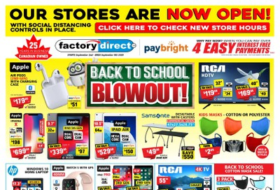 Factory Direct Flyer September 2 to 9