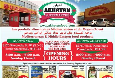 Akhavan Supermarche Flyer September 2 to 8