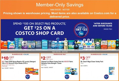 Costco Weekly Ad September 2 to September 27
