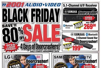 2001 Audio Video Black Friday Flyer November 29 to December 5, 2019