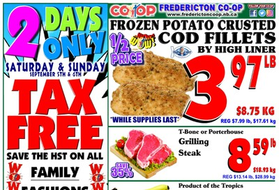 Fredericton Co-op Flyer September 3 to 9