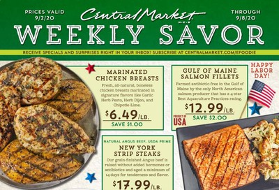Central Market Weekly Ad September 2 to September 8