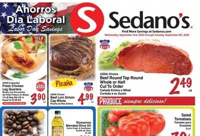 Sedano's Weekly Ad September 2 to September 8